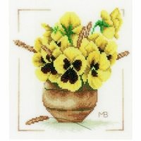 Pensée Jaune en Vase  0164071  Lanarte