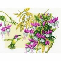 Colibri et fleurs  0165379  LANARTE