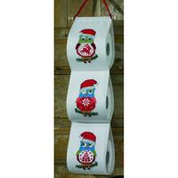 Porte-rouleaux Chouettes de Noel - Permin 41-4209
