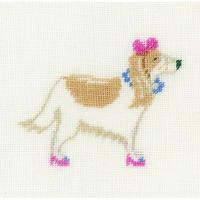 Dog with pink  0148695  LANARTE