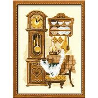 Chat avec horloge  858  Riolis