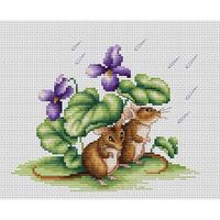 Deux Souris sous la pluie  Luca-S  B1041