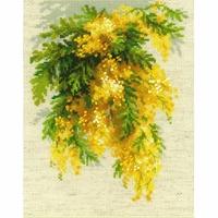 Branche de mimosa  1615  RIOLIS
