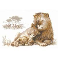 Famille de lion  100-013  RIOLIS