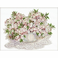 Fleurs blanche  100-034  RIOLIS