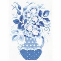 Vase bleu  1365  Riolis