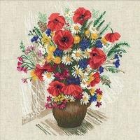 Fleurs d été et coquelicots  999  Riolis