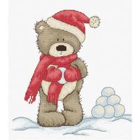 Bruno joue dans la neige - Luca-S  B1098