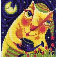 Peinture Moderne chat  1130  Riolis