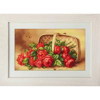 Panier de Roses - Luca-S LB499 - Kit de broderie point de croix sur www.la-brodeuse.com