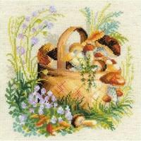 Panier de champignons  1363  Riolis