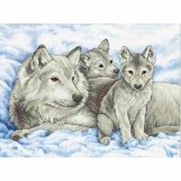 Mère loup et ses petits  13130  Dimensions