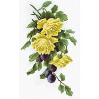 Roses jaune et prunes  B2230  Luca-S