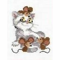 Chat avec souris  558  Riolis