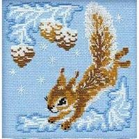 Écureuil dans la neige  799  Riolis