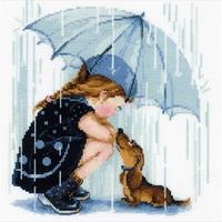 Fillette et son chien  1720  Riolis