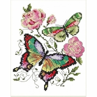 Papillons et roses  42-04  Chudo Igla