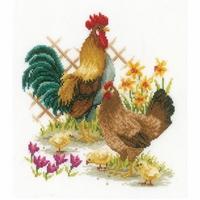 Famille de poules  0156469  Vervaco