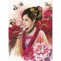 Dame asiatique en rose  0170199  Lanarte