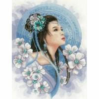 Femme Asiatique en bleu  0169168  Lanarte