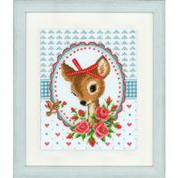 Bambi avec roses - Vervaco - Code PN-0150452