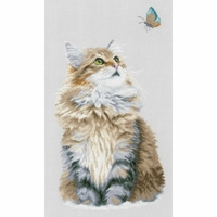 Chat et papillon  0171041  Lanarte