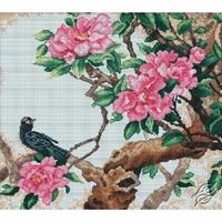 Fleurs et oiseau  M228  RTO