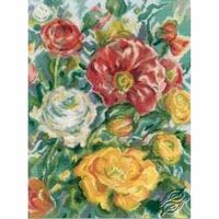 Aquarelle de roses  M244  RTO