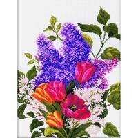 Bouquet de lilas et tulipes  M205  RTO