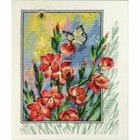 Fleurs et papillon  90-4180  Permin of Copenhagen