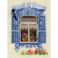 Fenêtre avec une pie  1733  Riolis