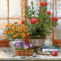 Fenêtre fleurie  1763  Riolis