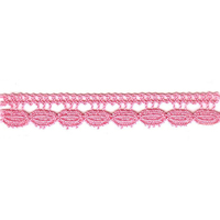 Dentelle coton rose 12 mm - Code JDA-2176