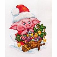 Cochon de Noël  D057  LanSvit