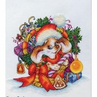 Puppy de Noël  D056  LanSvit