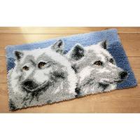 Têtes de Loups - Tapis point noué - Vervaco PN-0014303