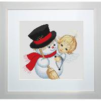 Angelot et bonhomme de neige  LUCA-S  B191