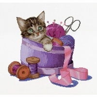 Sewing basket Kitten -  736A  Thea Gouverneur