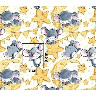 cotton-grey-mouses-on-white-background 3