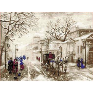 Old street Riolis 1400 - Kit broderie point de croix en vente sur www.la-brodeuse.com