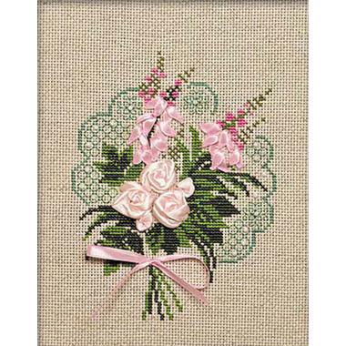 Kit broderie RIOLIS Bouquet tendresse 1073 sur www.la-brodeuse.com