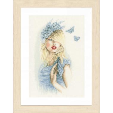 Papillons bleus - Kit broderie Lanarte PN-0155691 en vente sur www.la-brodeuse.com