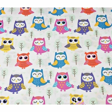 cotton-colorful-owls-with-trees-on-a-white-background