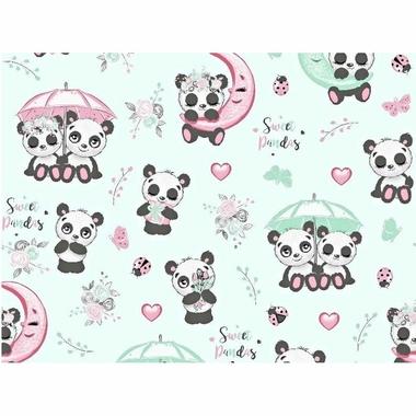 cotton-pandas-with-umbrella-on-a-mint-background