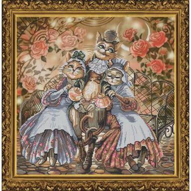 Amicable family - Nova Sloboda CP1144 - Kit broderie point de croix sur www.la-brodeuse.com