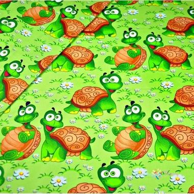 Tortues de coton sur fond vert