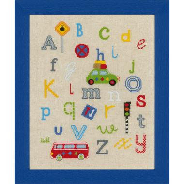 ABC dans la circulation - Vervaco PN-0150884 - Kit broderie point de croix sur www.la-brodeuse.com