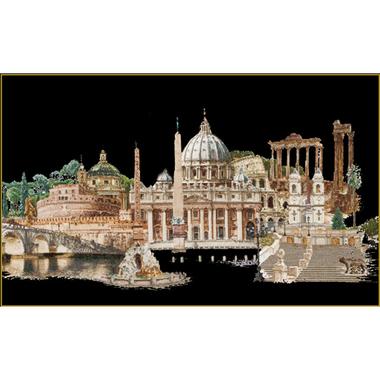 Rome (version aïda noire) - Kit broderie de Thea Gouverneur, code 499-05, en vente sur www.la-brodeuse.com