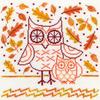 Autumn Owl - Bothy Threads XDJ1