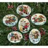 Ornements de Noël bonhommes de neige joueurs - 6 pièces - Dimensions 8828